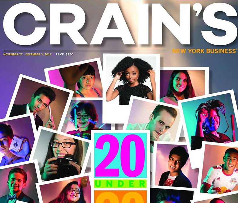 Crain's 20 Under 20 cover (including Sasha Matthews)