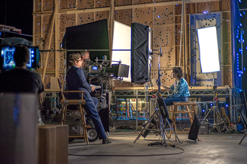 Sasha Matthews on the Microsoft 3D Holiday set with director Roman Coppola